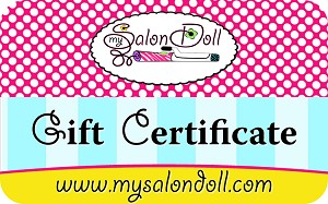 My Salon Doll Gift Certificate